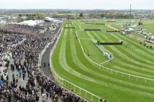 How long is the run-in on the Grand National Course?